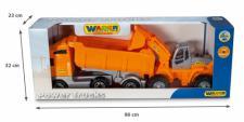 PowerTruck Kipper mit Sattelanhänger + Traktor-Ladeschlepper von Wader