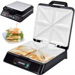Syntrox Sandwichmaker XXL mit Keramikplatten Thermostat und Edelstahldekor
