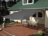 Sonnensegel, Sonnenschutz, Regenschutz, Tarp, anthrazit, 400 x 400 cm