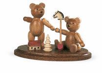 Müller-Kleinkunst aus dem Erzgebirge® seit 1899 Zwei spielende Bärenkinder