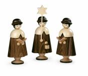 Müller-Kleinkunst aus dem Erzgebirge® seit 1899 Kurrende, 3 Figuren groß, natur