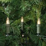 LED-Weihnachtsbaumkette, klar/grün, 30 x E10/3V/0, 1W, mit teilbarem Stecker, IP44