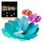 Wasserlaterne Lotusblume mit Teelicht Schwimmlaterne 1 Stück