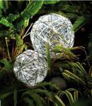Solar-LED-Rattan-Kugeln 30+15 BS weiss aussen