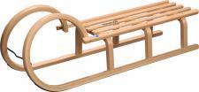 Hörnerschlitten Colint 110 cm mit Lattensitz, Hörnerrodel, Holzschlitten, Rodel