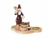 Müller-Kleinkunst aus dem Erzgebirge® seit 1899 Kerzenhalter Weihnachtsmann mit Gabenschlitten