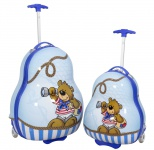 Kinder-Kofferset 2 tlg. Trolleyset Reisekoffer Hartschale Kinderkofferset BÄR 2tlg