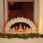 LED-Leuchter Holz Dom 18 BS warmweiß/natur