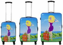 Kofferset 3tlg Reisekoffer Polycarbonat Hartschale NIZZA