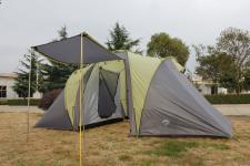 Familienzelt Zelt Campingzelt SIERRA 4 mit 2 Schlafkabinen, 4 Personen