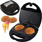 Syntrox Mini Waffle Cone Waffelkegel Maker Waffelmaker mit austauschbaren Backplatten