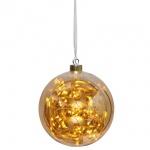 LED-Glaskugel, 40 warmweiße LEDs, GLOW