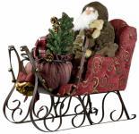 Weihnachtsmann ARON 80cm im Schlitten