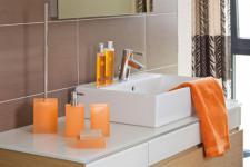 Cube Bürstengarnitur mandarine