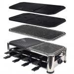 Syntrox Raclette mit 16 Pfännchen 4 Grillplatten und Heißem Stein