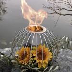 Feuerkugel Filligran Ø x H: 38 x 22 cm