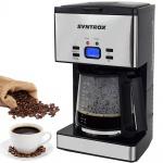 Syntrox Edelstahl Kaffeemaschine Kaffeeautomat mit Timer