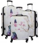 Kofferset 3 tlg. Trolleyset Reisekoffer Hartschale Butterfly II