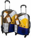 Kofferset 2tlg Reisekoffer Polycarbonat Hartschale NEAPEL
