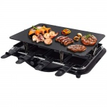 Syntrox 4 in 1 Raclette-Grill-Fondue-Heißer Stein für 8 Personen