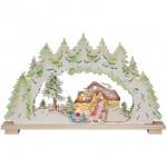 Weihnachtsleuchter Weihnachtsnacht, 10 x E10/24V/3W