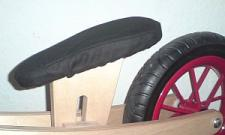 gepolsterte Sattelauflage für Holzlaufrad BambinoBike Laufrad