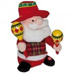 Weihnachtsmann, mit Rumbarasseln, mit Bewegungen und Musik