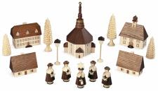 Müller-Kleinkunst aus dem Erzgebirge® seit 1899 Seiffener Dorf mit Kurrende natur