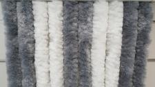 Türvorhang Flauschvorhang silber / weiß (100 x 200 cm kürzbar)