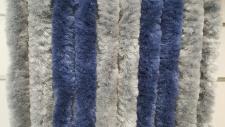 Türvorhang Flauschvorhang silber/blau (56 x 200 cm kürzbar)