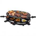 Syntrox Design Raclette Chur mit Glas-Keramik Grillplatte für 8 Personen Grill