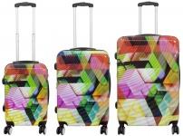 Kofferset 3 tlg. Trolleyset Reisekoffer Hartschale Tiflis