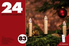 LED Weihnachts-Kerzen 24er Basis-Set, kabellos + Fernbedienung, warmweiß