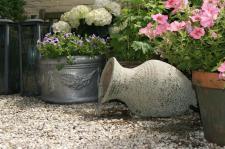 Ubbink Wasserfall Gartenbrunnen Zierbrunnen Wasserspiel Springbrunnen Larissa rustikale Amphore im Antiklook aus Keramik