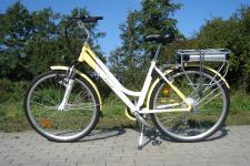 TXED Alu Elektro Fahrrad City 8000HC-B 28 Zoll - weiß