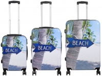 Kofferset 3tlg Reisekoffer Polycarbonat Hartschale Beach