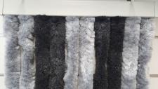 Türvorhang, Flauschvorhang silber / anthrazit (100 x 200 cm kürzbar)