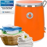 Syntrox 3, 0 Kg Waschmaschine mit Schleuder und Timer Orange