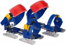 Gleitschuh blau/gelb/rot, Größe verstellbar 24 - 34