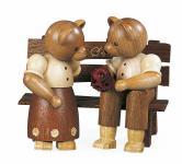 Müller-Kleinkunst aus dem Erzgebirge® seit 1899 Bärenpaar auf Bank