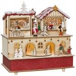 Spieluhr, 10 ww LEDs, Weihnachtsmarkt