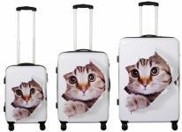 Kofferset 3tlg Reisekoffer Polycarbonat Hartschale KATZE