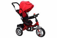 Miweba Kinderdreirad, Kinderbuggy, Kinderwagen, Schieber 7 in 1 rot