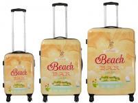 Kofferset 3 tlg. Trolleyset Reisekoffer Hartschale Hawaii II