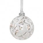 Glaskugel, 8 Microlights, weiß, Ø 10 cm