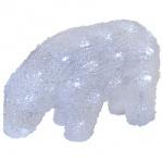 Acryl-LED-Eisbär, ICE BEAR BABY, 40 LEDs, L 230, H 150, B 90 mm