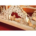 Weihnachtsleuchter, Rehfütterung im Wald