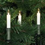 LED-Weihnachtsbaumkette, klar/elfenbein, 15 x E10/3V/0, 1W, mit teilbarem Stecker, IP44