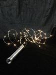 Hellum LED-Lichterkette ''Tauperlen'' 20 BS warmweiß/silber innen