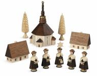 Müller-Kleinkunst aus dem Erzgebirge® seit 1899 Kurrende Seiffener Kirche natur